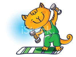 Kitty Sportsman Stock Vector.