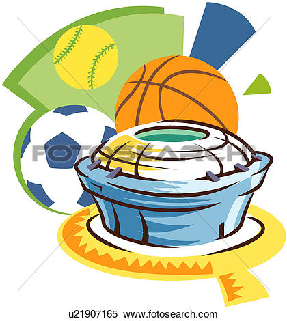 Clipart of Sports Arena u21907165.