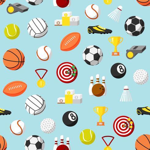 Seamless sports pattern background.