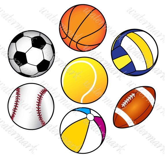 Ball Clipart Sport Clipart Digital Sport от.