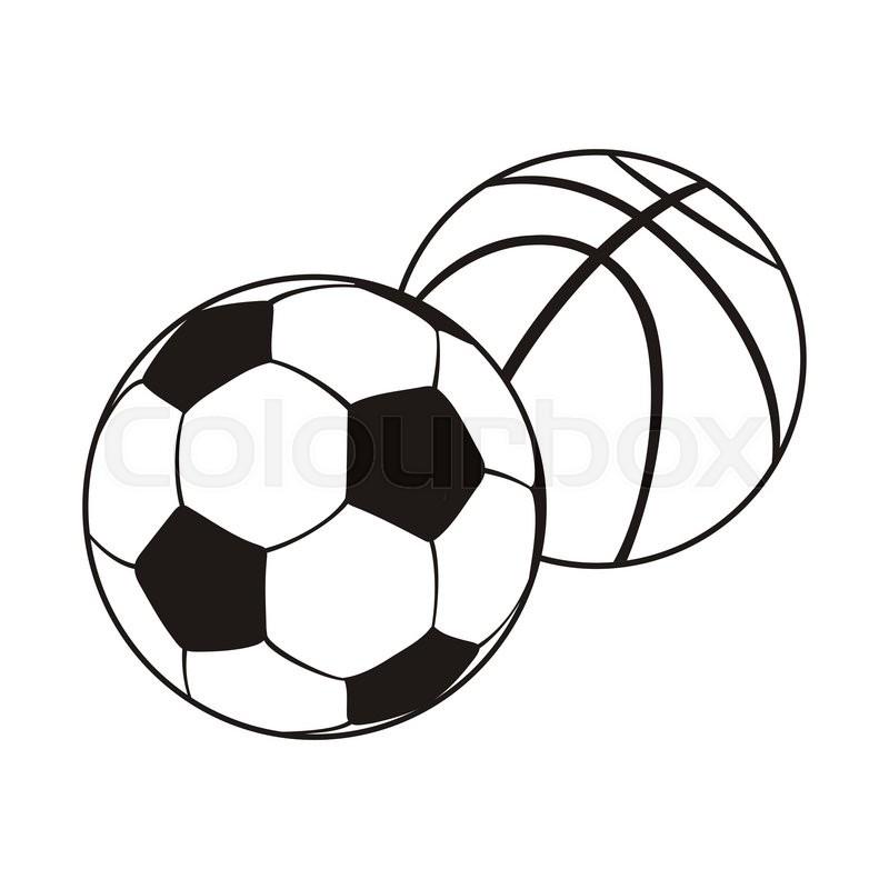 Sports Balls Clipart Black And White.