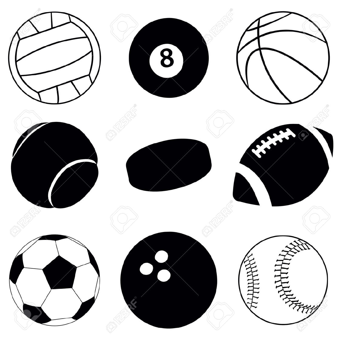 Sports clipart black and white 8 » Clipart Station.
