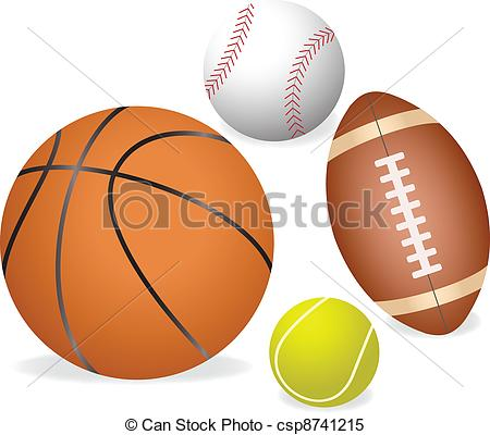 Clipart Vector of Sports ball.