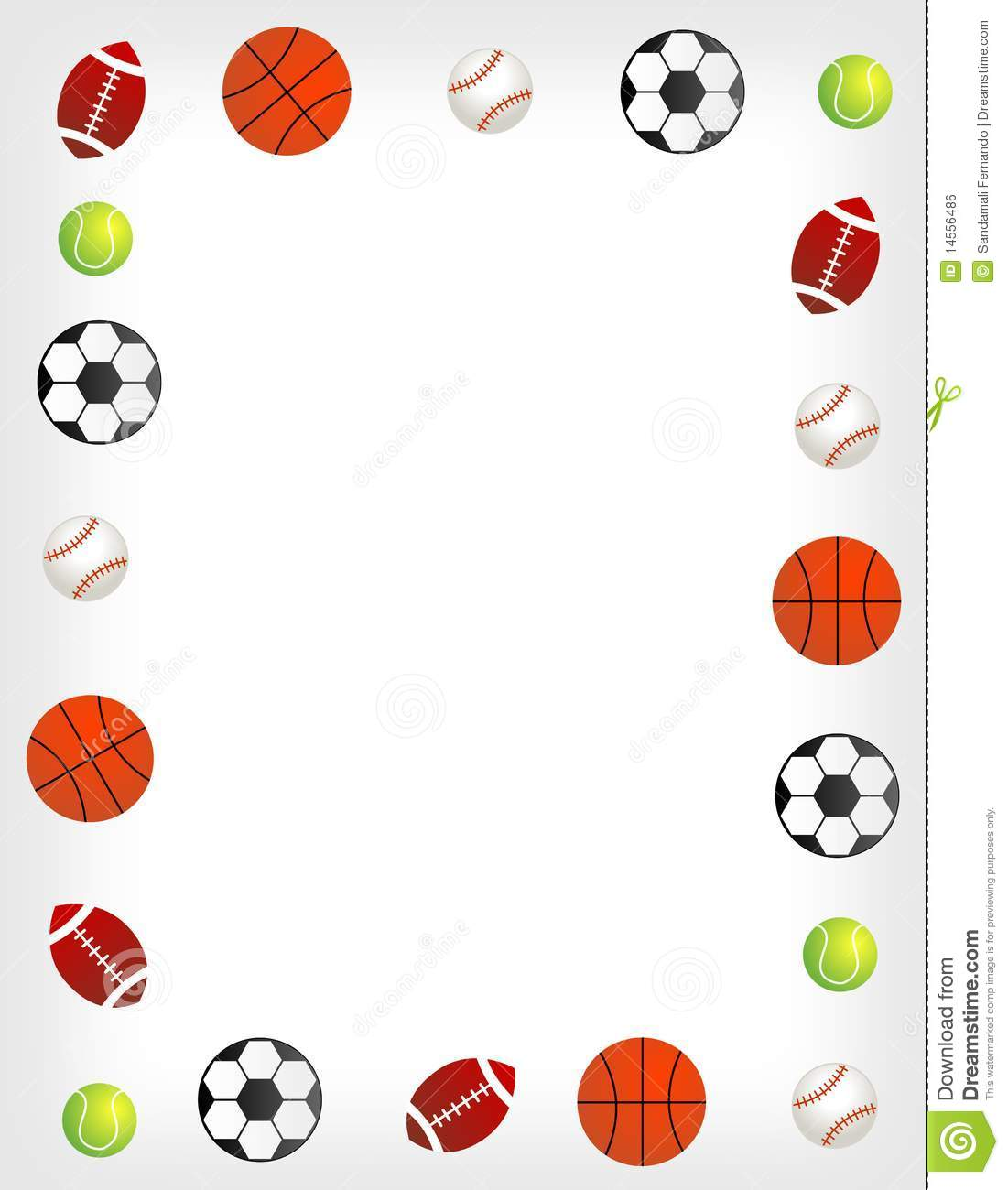 free sports balls scrapbook backgrounds.