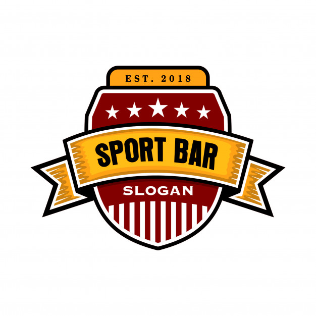 Sport bar cafe logo template Vector.