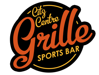 City Centre Grille Sports Bar logo design.
