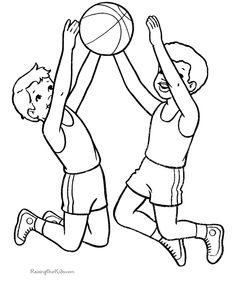 Free Clipart Kids Playing Sports Black And White.