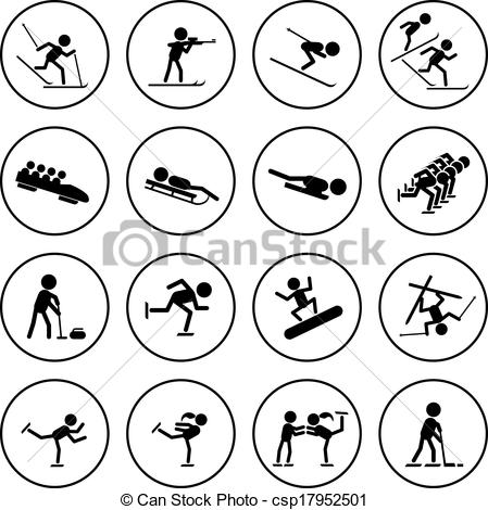 Free Sports Clipart Black And White.