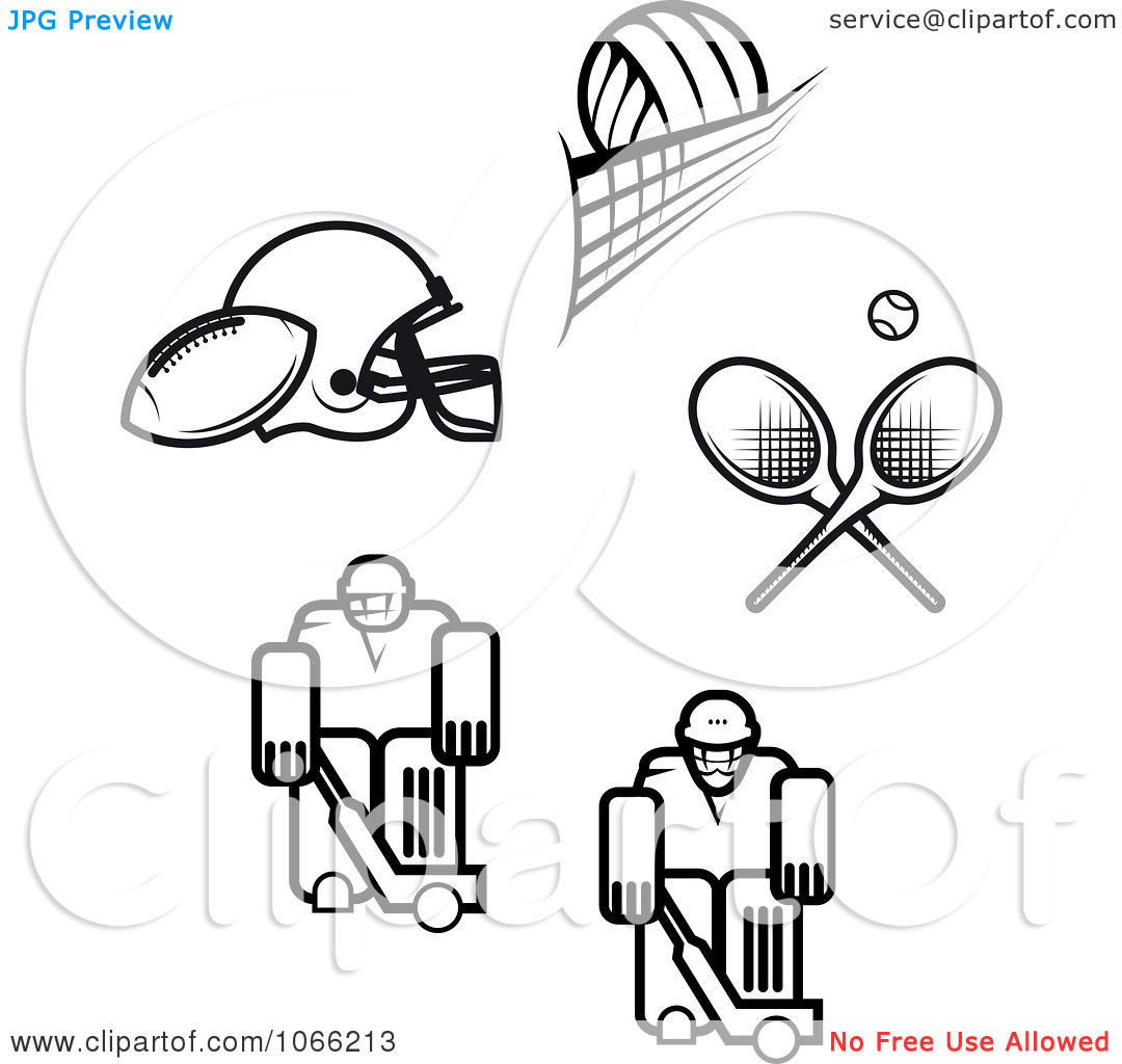 Sports Clipart Black And White.
