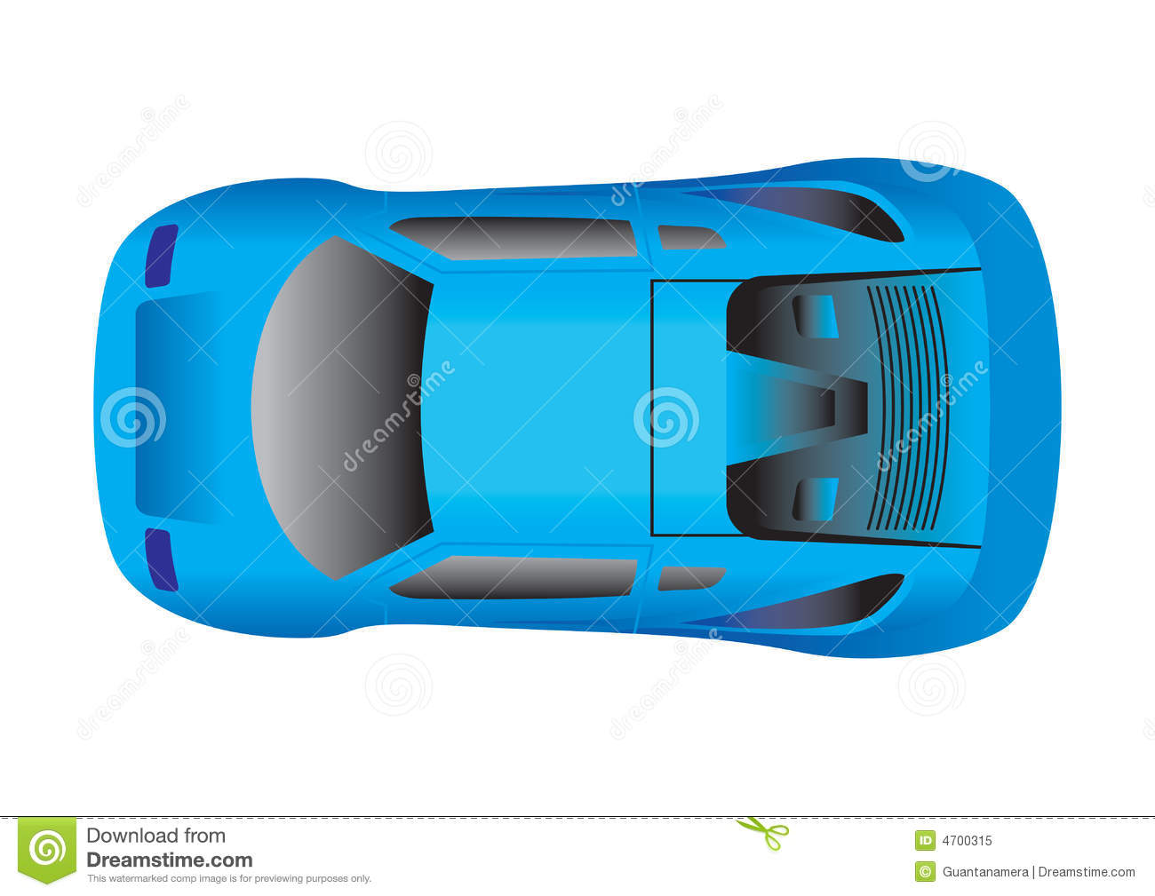 Top View Sports Car Stock Illustrations.