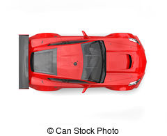 Stock Illustrations of Red electric sports car.