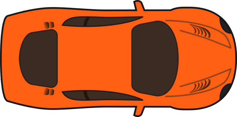 Image of Car Clipart Top View #8567, Red Sports Car Top View Clip.
