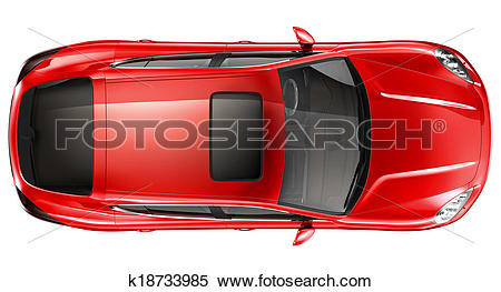 Stock Illustration of Red sports car.