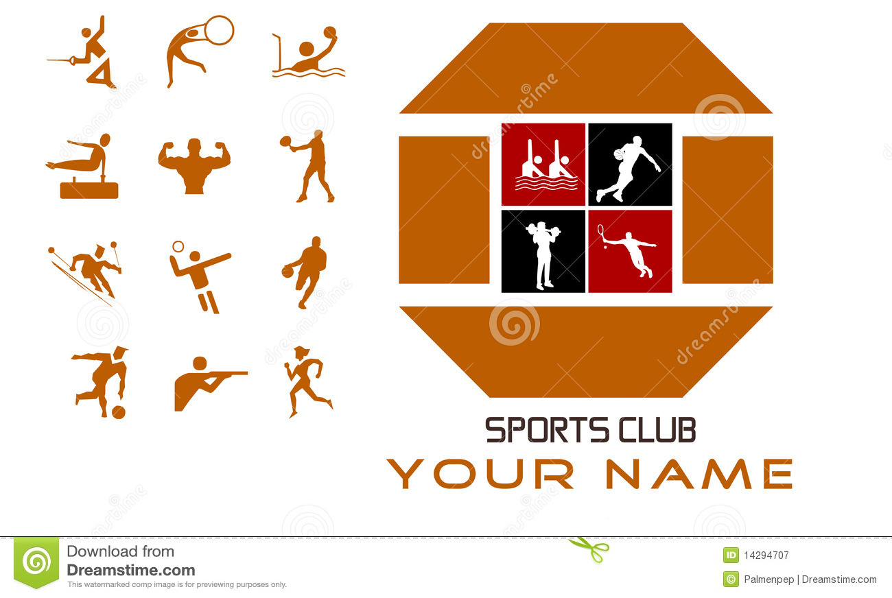 Sports Club Concept Design And Bonus Royalty Free Stock.
