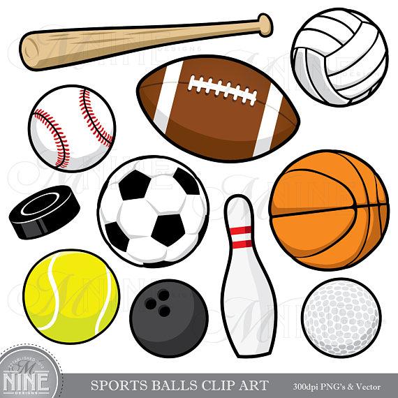 SPORTS BALLS Clip Art / Sports Balls Clipart Downloads.