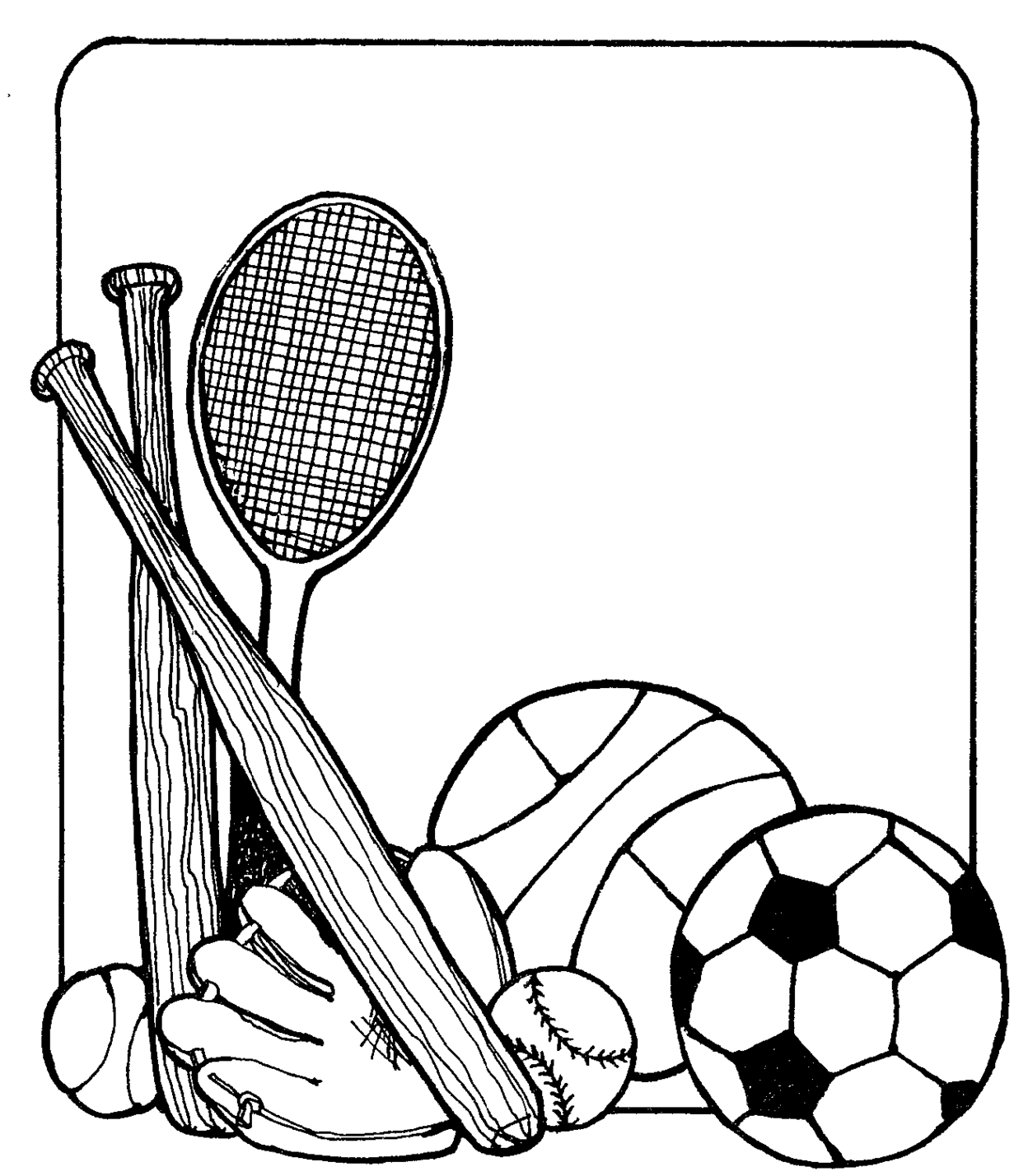 Sports Equipment Clipart.