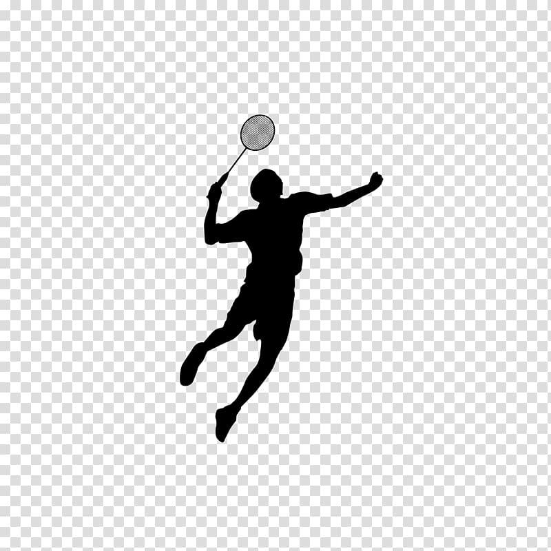 Badminton Shuttlecock Sport, Badminton silhouette figures.