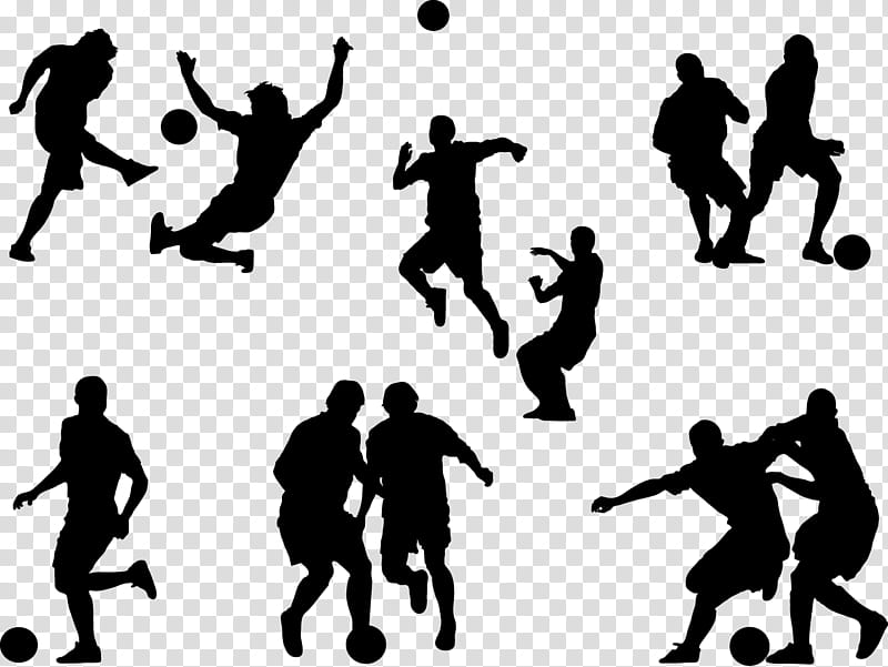 Football players silhouette, silhouette of assorted sports.