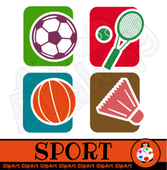 Sport Clip Art Icons.