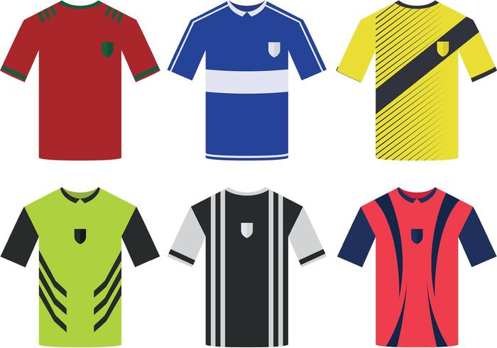 Soccer Sports Jersey Vectors.