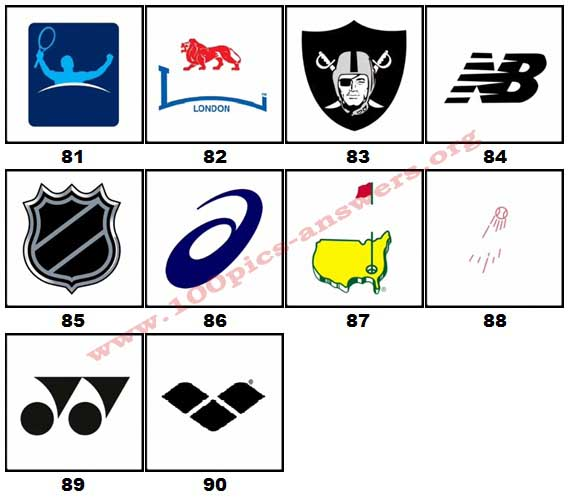 100 Pics Sports Logos Level 81.