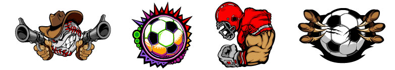 Sport Clipart Logos and Team Mascots.