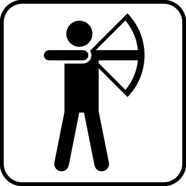Bow Arrow Sports Land Recreation Symbols Clip Art at Clker.com.