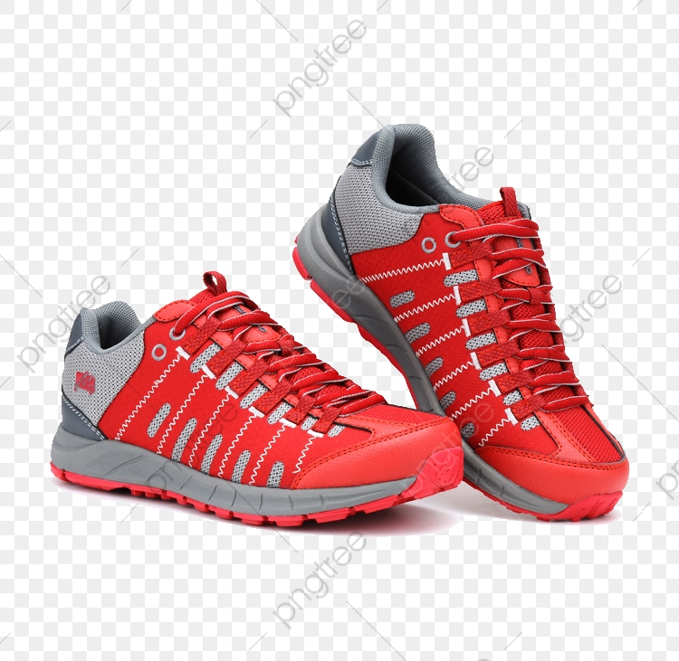 Sports Shoes With Red Mesh Cloth, Sports Clipart, Shoes.