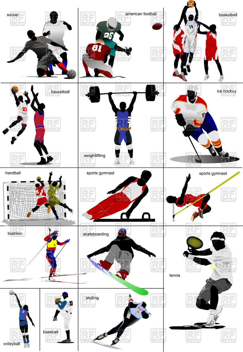Free winter sports clipart.