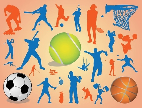 Sports silhouette clip art free vector download (220,815.