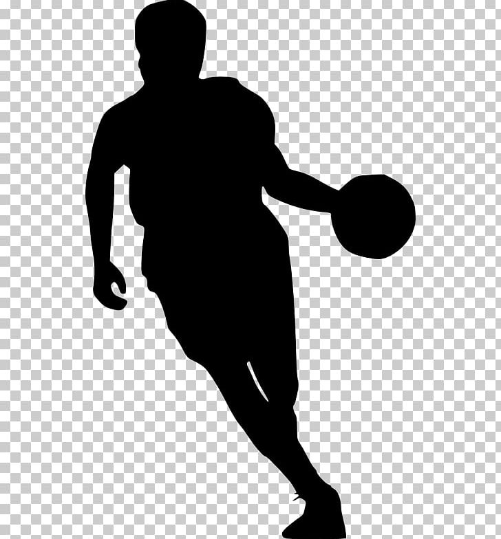 Basketball Player Sport Silhouette PNG, Clipart, Arm, Ball.