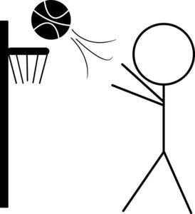 Basketball Clipart Image: Clip art Illustration of a Stick.