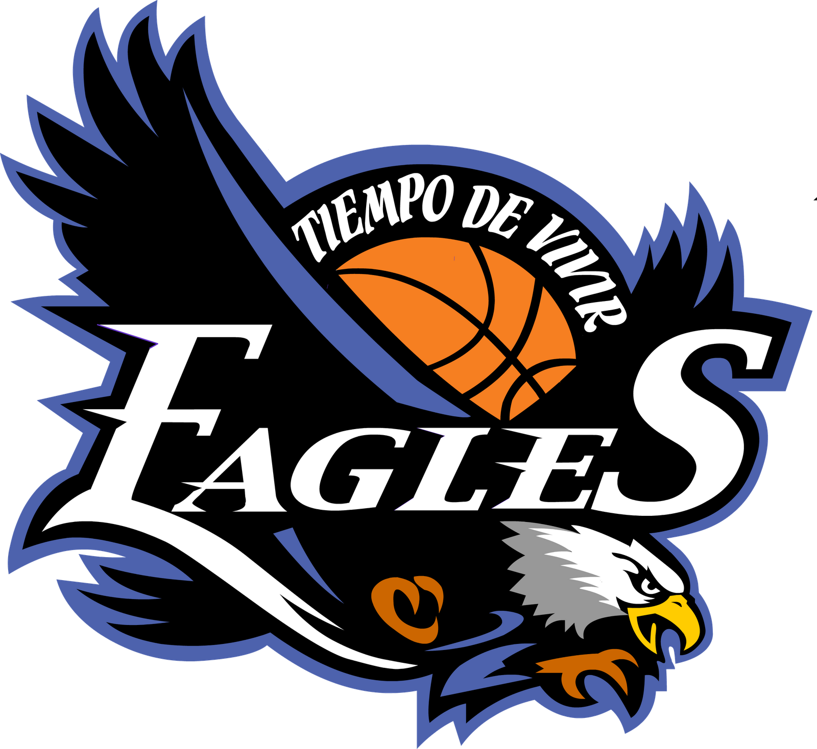 Eagles Basketball Team Logo Clipart.