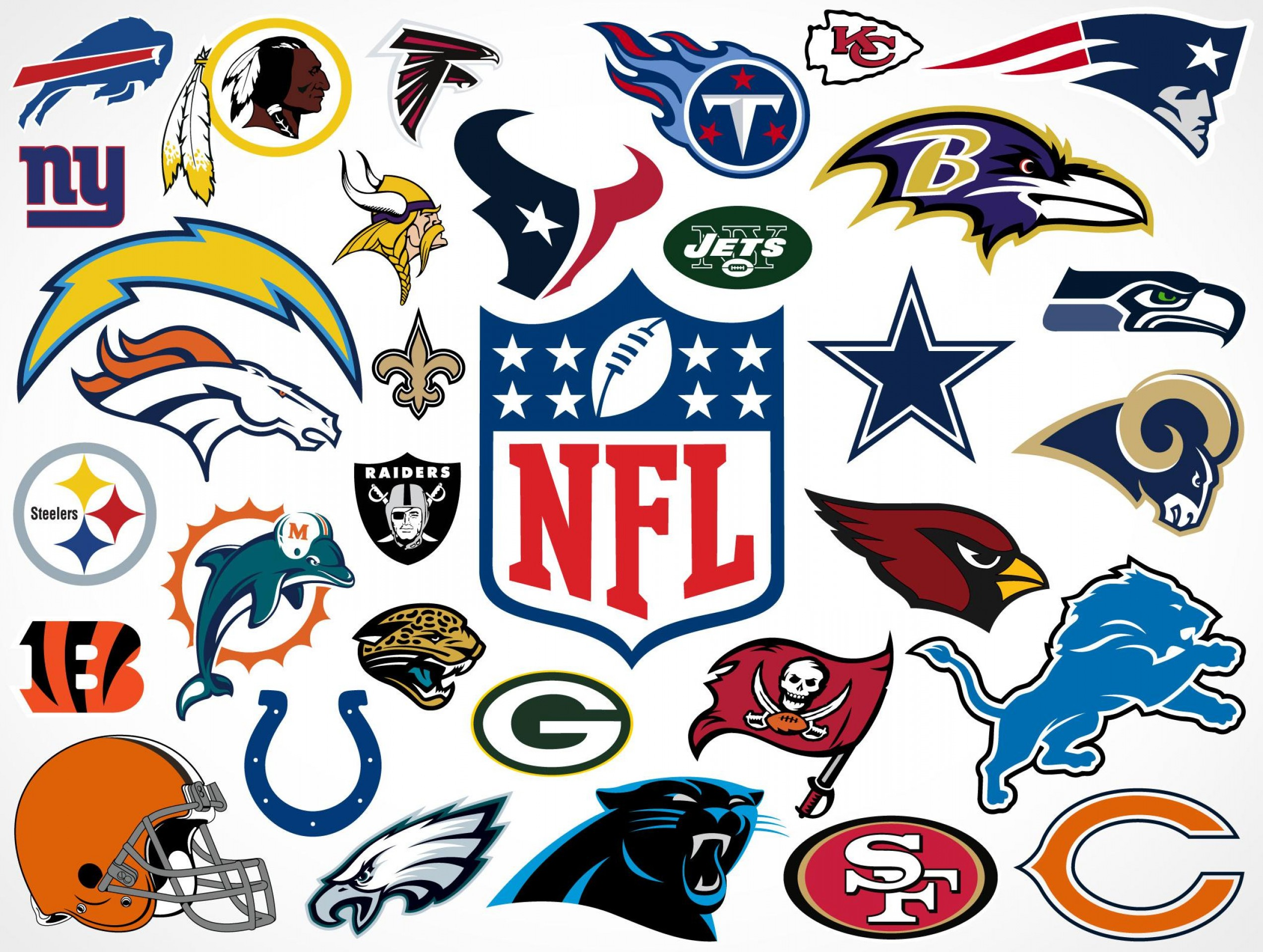 Best Free Football Team Logos Clip Art Vector Images.
