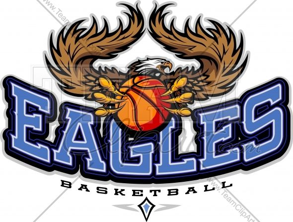 Eagles Basketball Clipart Vector Image.