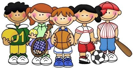 Kids Playing Sports Clipart.