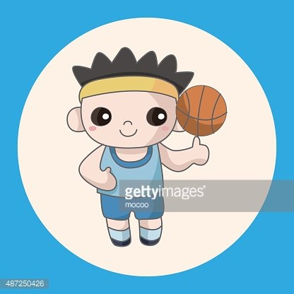 Ball sports theme elements Clipart Image.