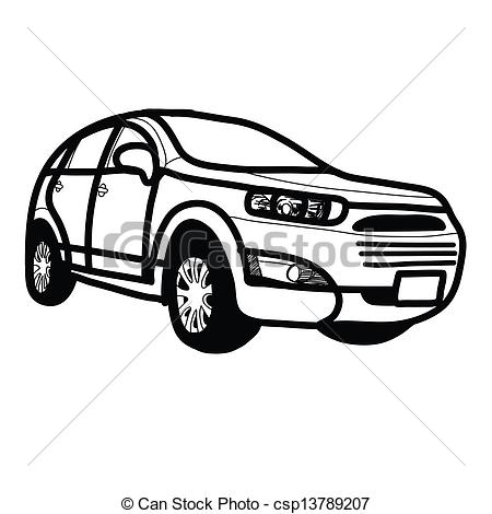 Abstract Suv Clipart.