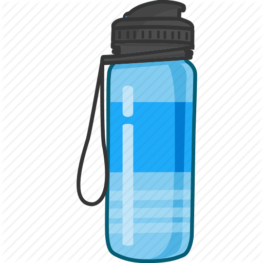 \'Water Bottle Colored\' by Nimblechapps.