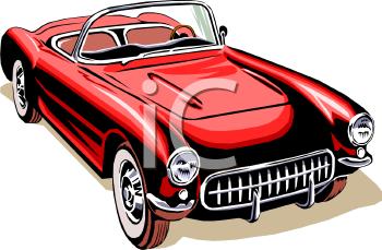 Vintage Sports Car Clipart.