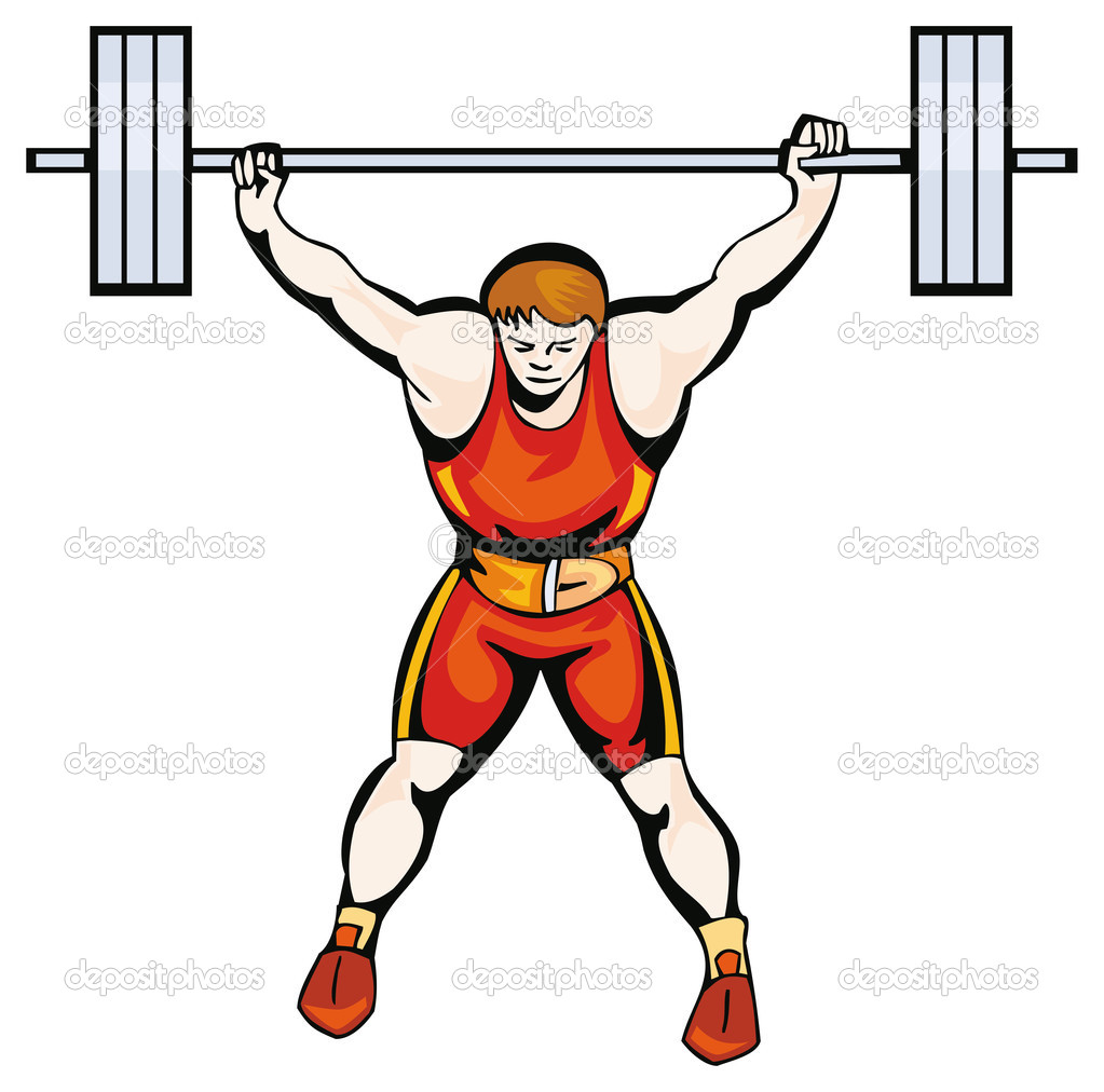 Sportsman with a barbell — Stock Vector © Digital.