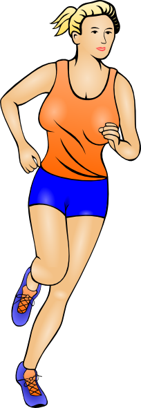 Girl athlete clipart.