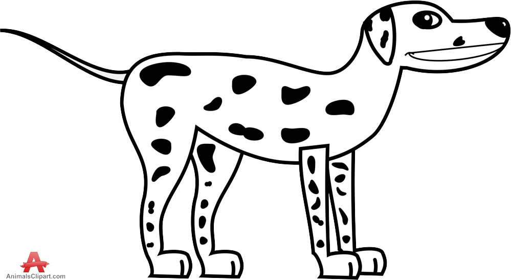 Dog black and white white dog with black spots clipart free.