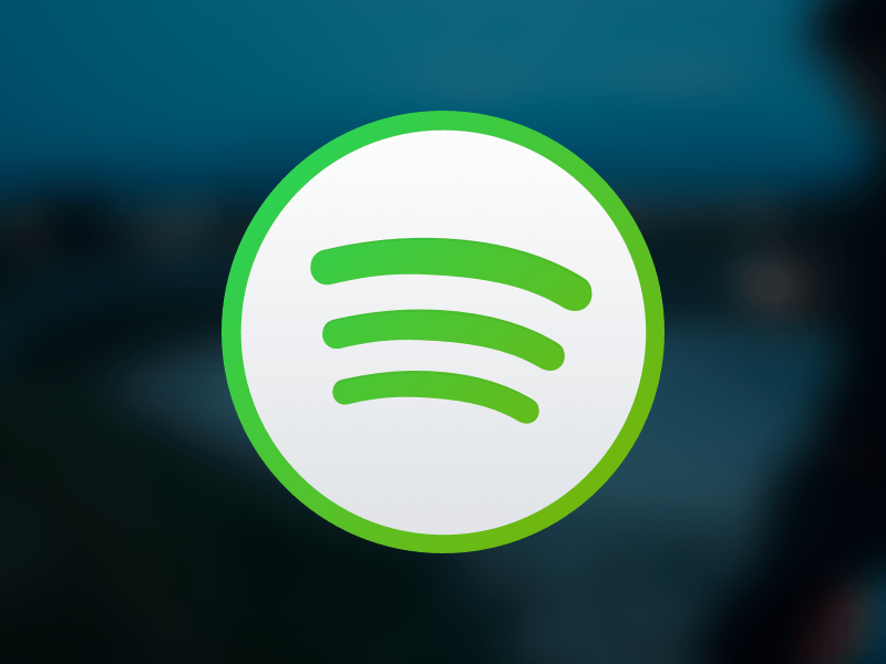 Spotify Light Icon for OS X Sketch freebie.