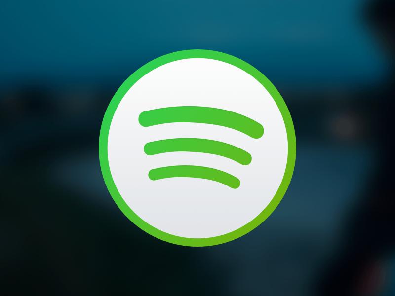 Spotify Light Icon for OS X Sketch freebie.