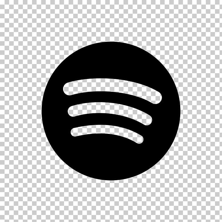 Spotify Music Playlist Streaming media, black and white.