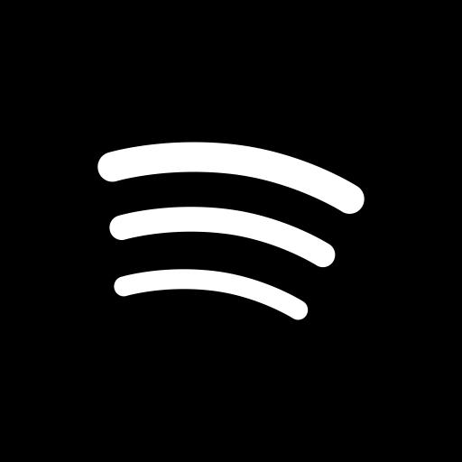 Social media Spotify Black Icon.