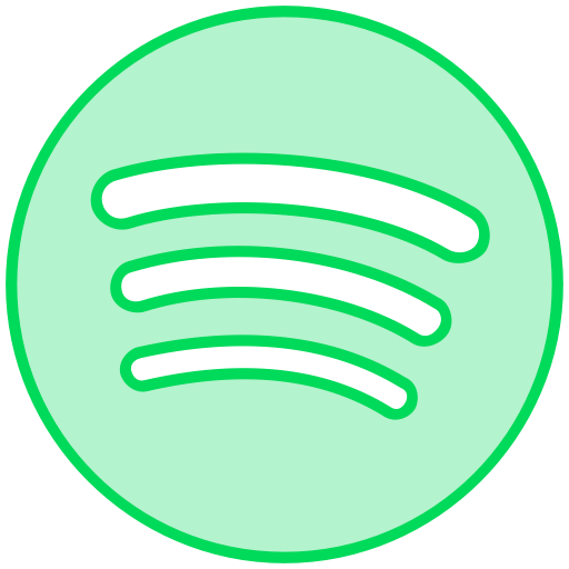 Audio, line, music, social, songs, spotify, transparent icon.