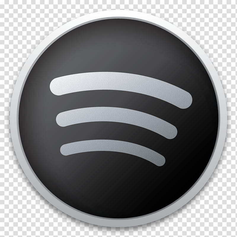 Dark Icons Part II , Spotify, round gray and white logo.