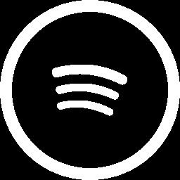 Free White Spotify Icon.